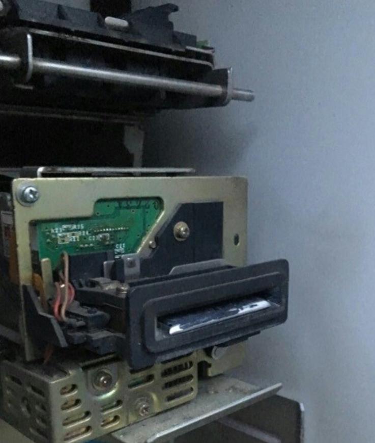 Мошенническое устройство в банкомате